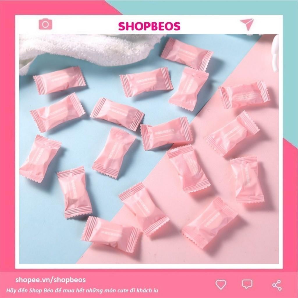Khăn vải nén Pison viên kẹo hồng