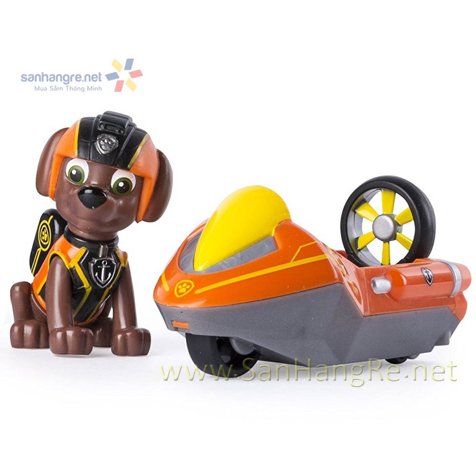 Đồ chơi Paw Patrol xe ca nô và chó rời Zuma 07