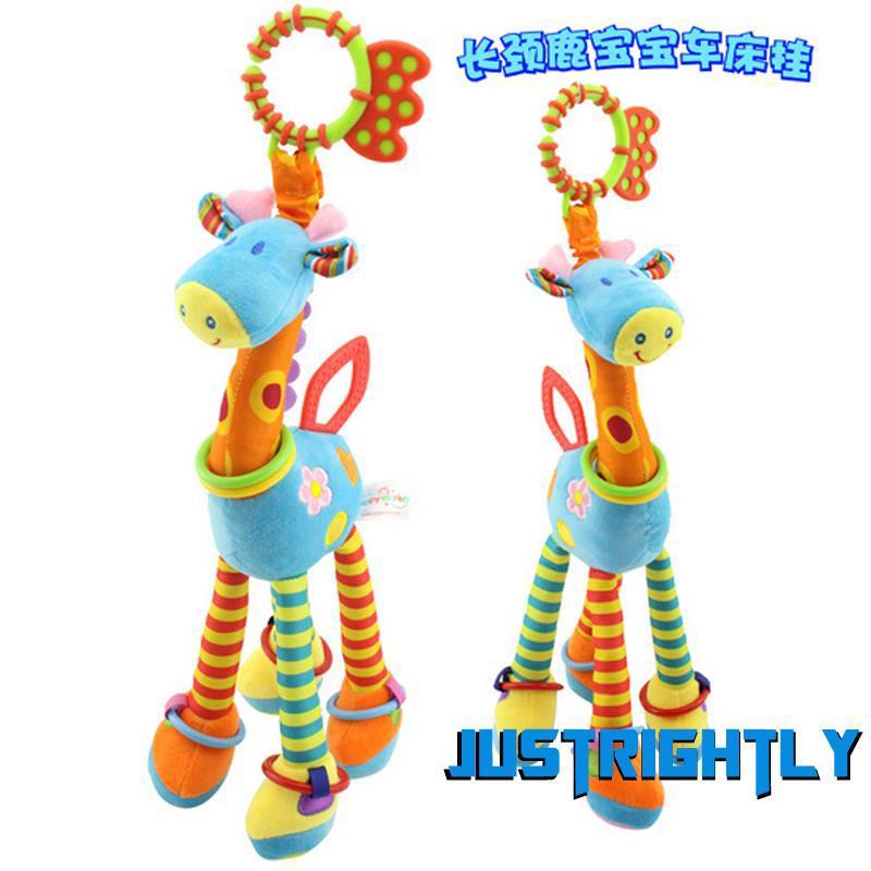 Jry₪New Style size 37cm Giraffe Kids Soft Plush Toy Animal Stuffed Doll Toy Newborn Baby Infant Toy