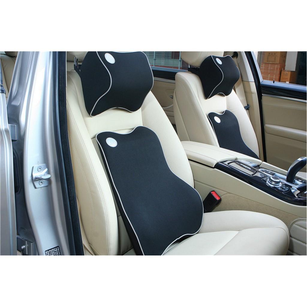 Bộ gối tựa lưng và đầu ô tô chất liệu cao cấp lucky bobi
