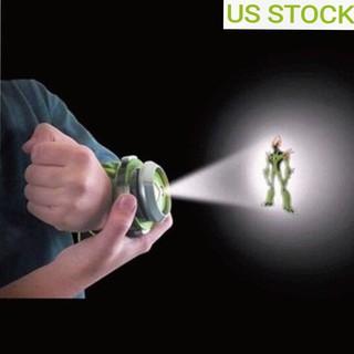 US 10 Kids Rare Alien Viewer BANDAI BEN10 Kids Watch Projector Omnitrix Toy Gift
