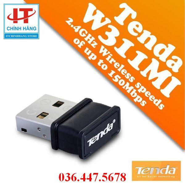 USB thu sóng Wifi tốc độ 150Mbps Tenda 311Mi, Hàng MICROSUN-ADNT PHÂN PHỐI, bảo hành 36 tháng