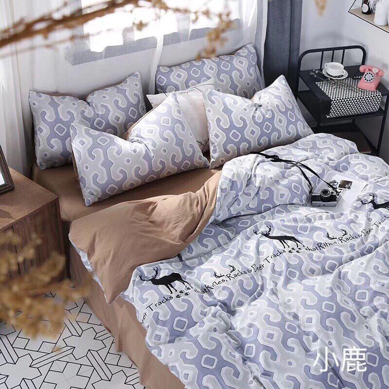 set chăn ga gối vải đũi (linen) 4 món