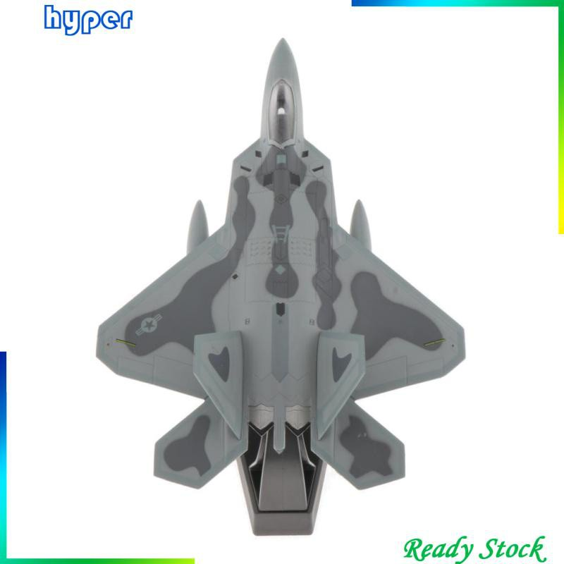 1/100th American F-22 Fighter Aircraft Model Diecast Airplane Toy Gift