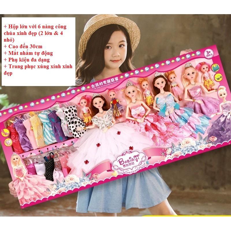 Bộ đồ chơi [Phụ kiện đa dạng] Búp bê Barbie cho bé