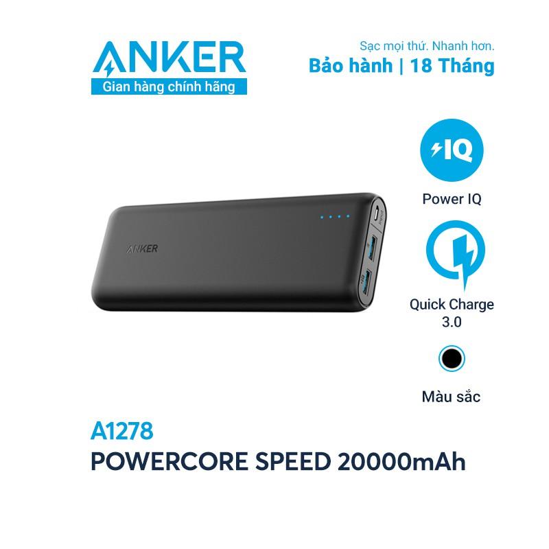Pin sạc dự phòng ANKER PowerCore Speed 20000mAh QC 3.0 - A1278