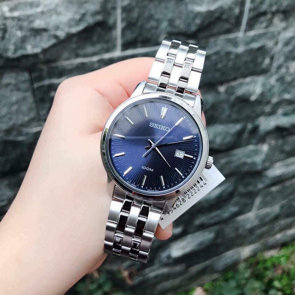 Đồng hồ Nam chính hãng Seiko Regular SUR259P1 dây thép chống rỉ, mặt kính Hardlex (K