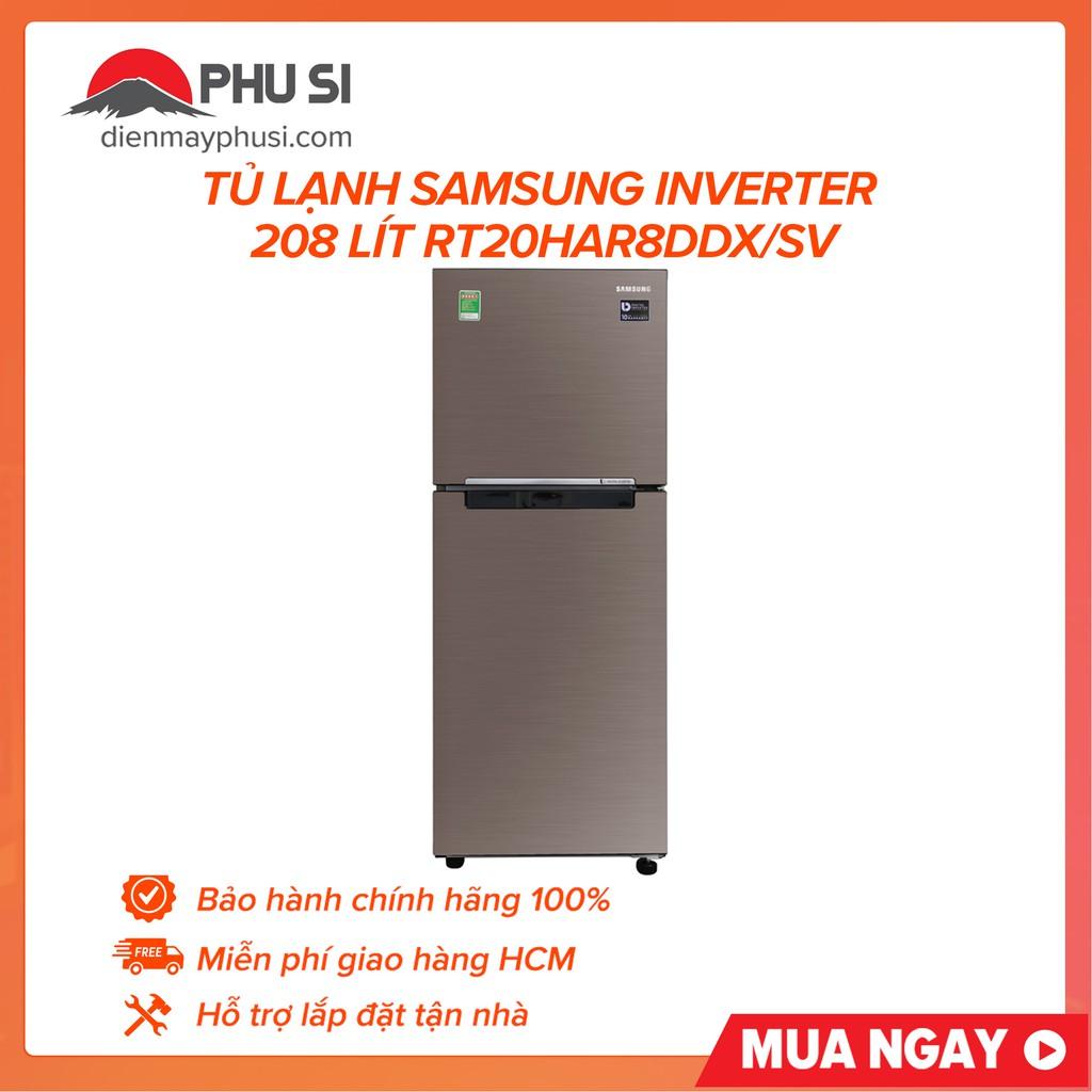 [GIAO HCM] Tủ lạnh Samsung RT20HAR8DDX/SV, 208 lít, Inverter