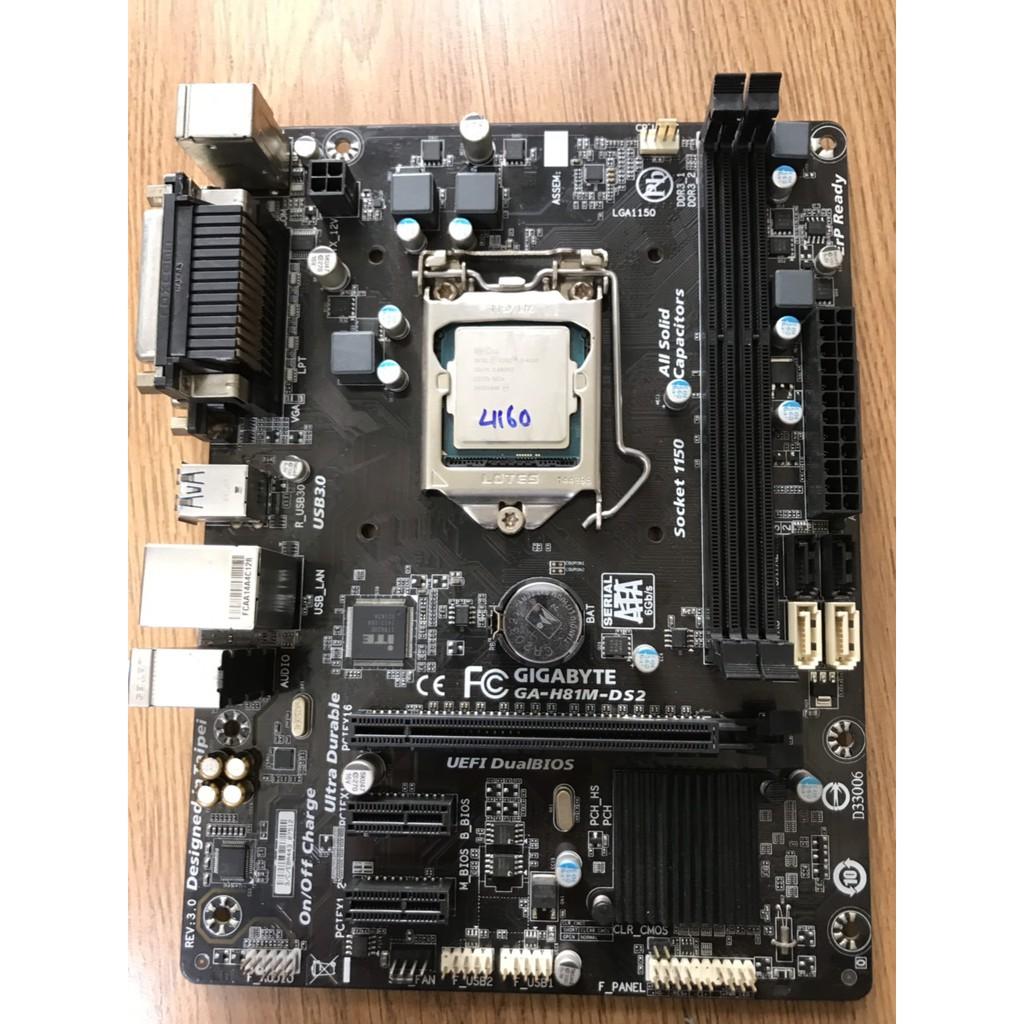 Combo Main Gigabyte H81M-DS2 + CPU Core i3 4130/ 4150 Thế Hệ 4 Giá rẻ