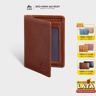 Ví da thật mini đựng tiền đựng thẻ LATA LVN74 nhiều màu