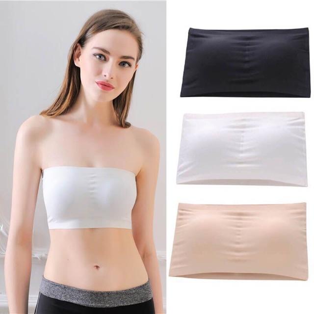 Áo bra quây đúc Thái không dây siêu Hot, ÁO NỊT NGỰC KHÔNG ĐƯỜNG MAY màu da màu trắng màu đen