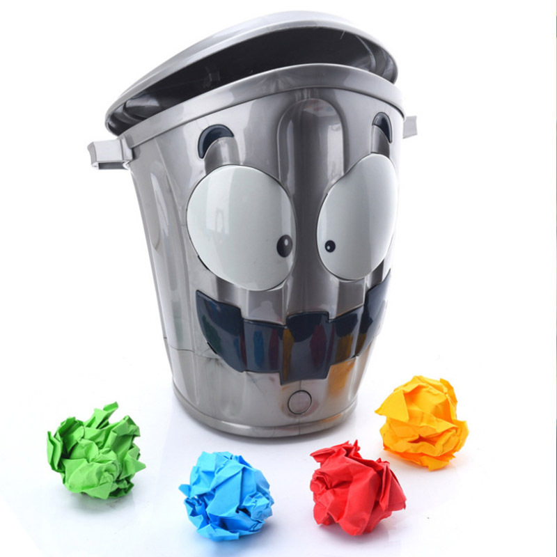 Novelty Funny Toys Walking Trash Can Parent-child Interaction Education Toy