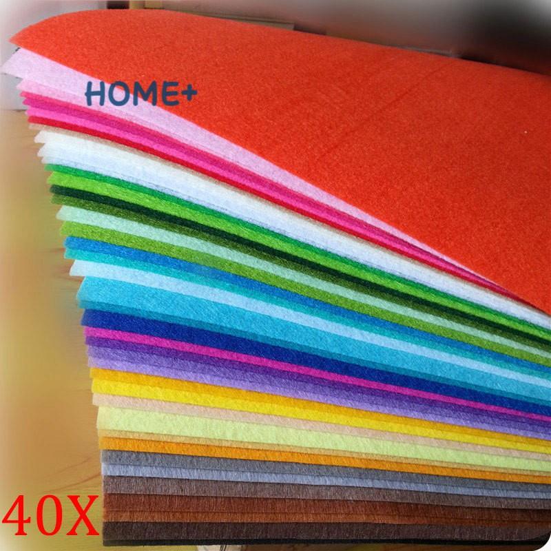 Set 40 Tấm Vải Nỉ 20x30cm 1mm Nhiều Màu Sắc Dùng Để Trang Trí Đồ Thủ Công