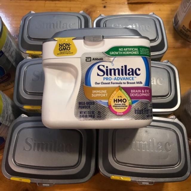 Sữa Similac Pro Advance bạc hộp nhựa