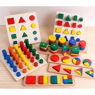 Bộ Giáo Cụ Montessori 8 Món – Loại 1 – Giúp Phát Triển Trí Tuệ Về Hình Học, Toán Học