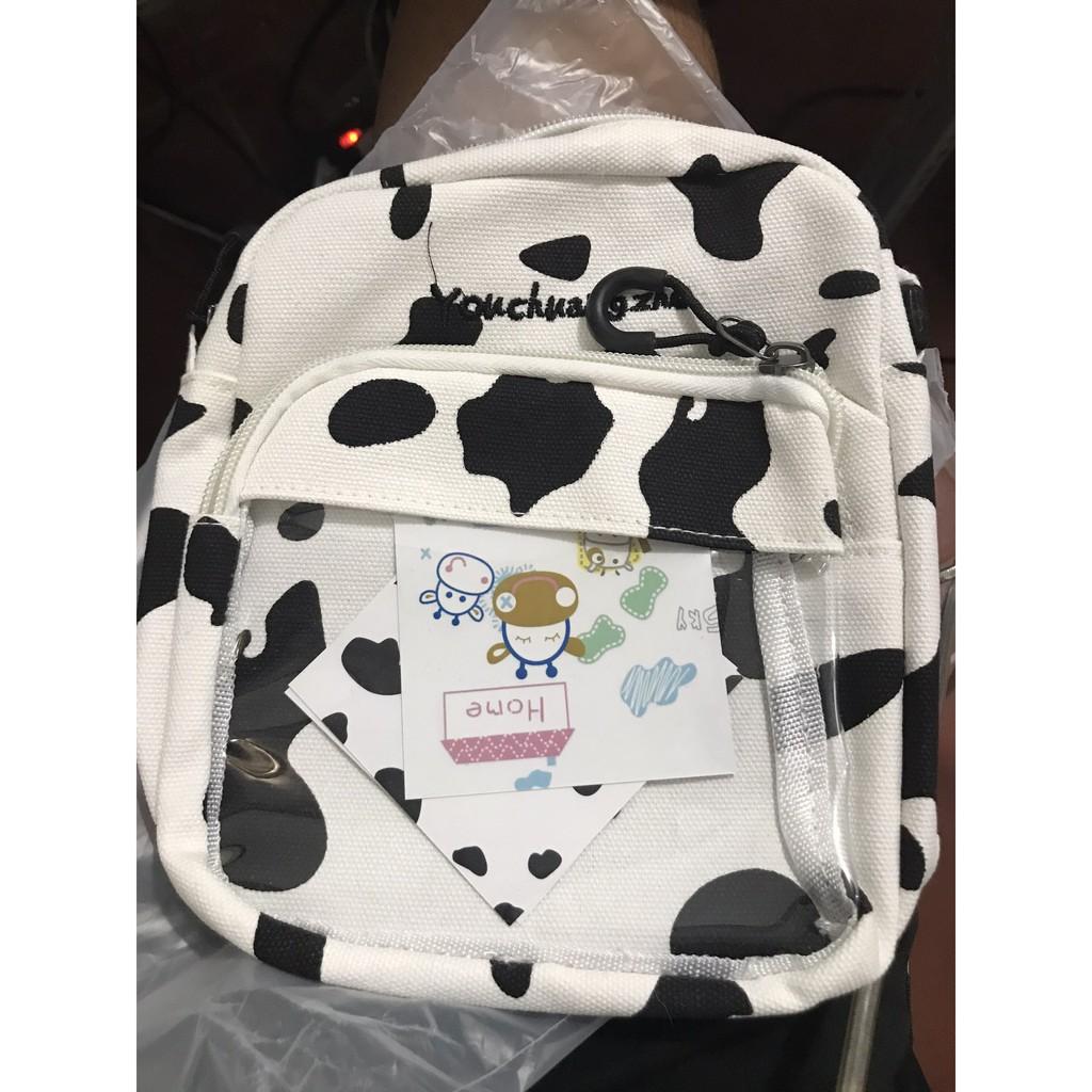 [Mã SKAMCLU7 giảm 10% tối đa 50K đơn 0Đ] Túi đeo chéo bò sữa trong suốt