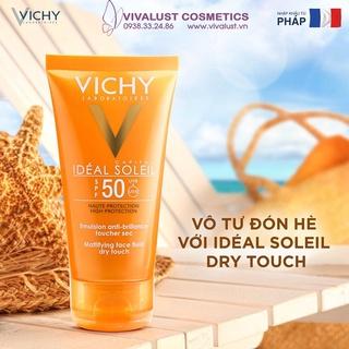 Kem Chống Nắng Vichy SPF 50 Ideal Soleil 50ml cho da dầu, mụn, nhạy cảm