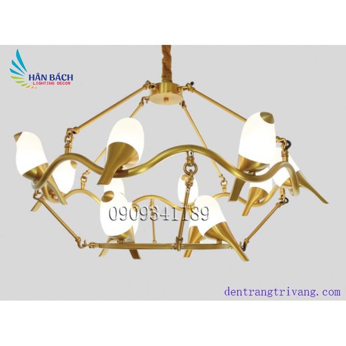 Đèn chùm,đèn thả đèn gắn trần trang trí phòng khách,salon,khách sạn hiện đại