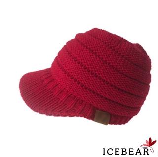 ✸ღ✸Women Fall Winter Knitting Peaked Beanie Hat Solid Cotton Warm Soft Lady Casual Cap