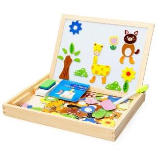 Bộ xếp hình gỗ nam châm cho bé