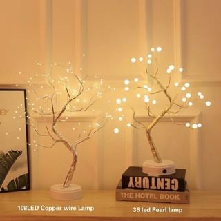[SIÊU ĐẸP – RẺ]Cây đèn led để bàn (nhiều mẫu lựa) trang trí phòng ngủ, phòng khách trang trí tết cực sang và lung linh