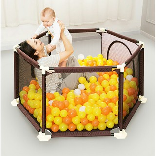 Quây bóng khung inox tặng 10 quả bóng cho bé
