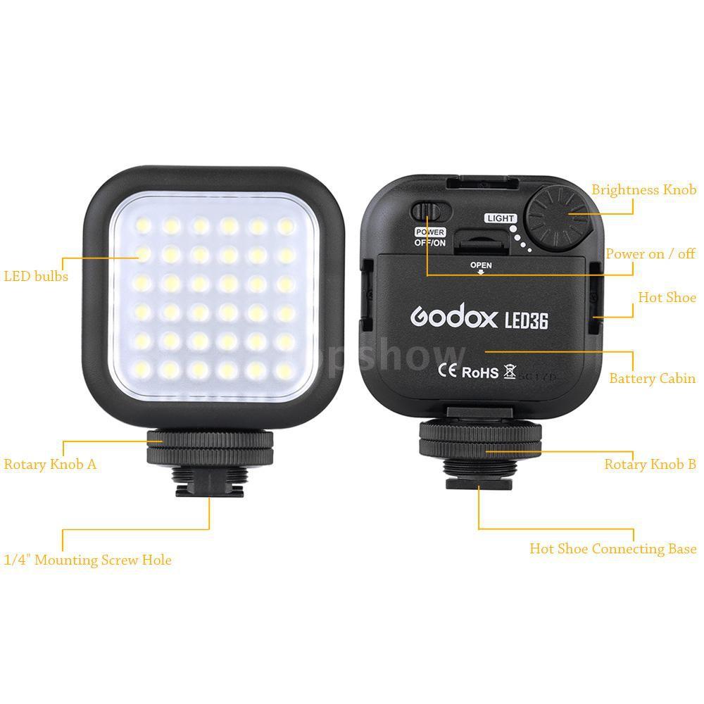 Tsm★Godox LED36 Video Light 36 LED Lights for DSLR Camera Camcorder mini DVR