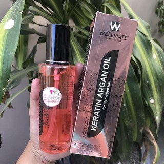 Wellmate Tinh dầu Phục hồi tóc hư tổn Wellmate Keratin Argan Oil 120ml ( màu hồng) thumbnail