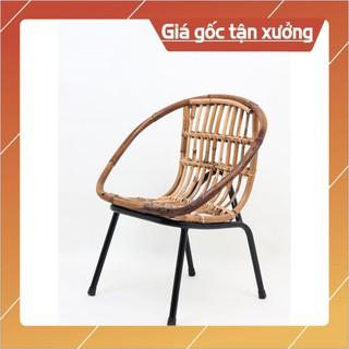 [Giá Sập Sàn] ghế mây cafe chân sắt đẹp giá rẻ, cung cấp số lượng lớn cho quán cafe, homestay