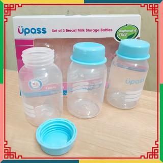 [SIÊU HOT] Bộ 3 Bình trữ sữa Upass (125ml/ bình) – cất trữ sữa tiện lợi cho mẹ và bé Loại tốt