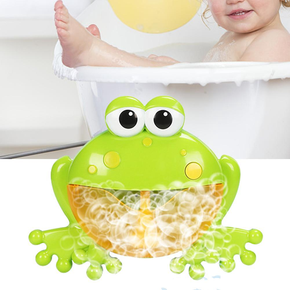 Kids Cartoon Blower Bubble Machine Music Cute Bathtub Glowing Toy Automatic Baby