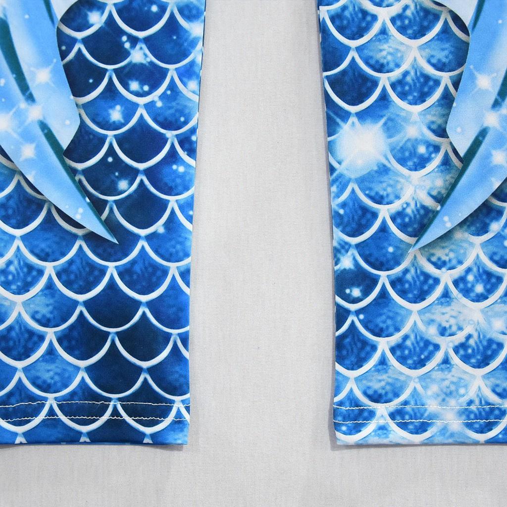 Bộ đồ bơi một mảnh tay dài bằng lụa sữa in hình nàng tiên cá dành cho bé gái G091