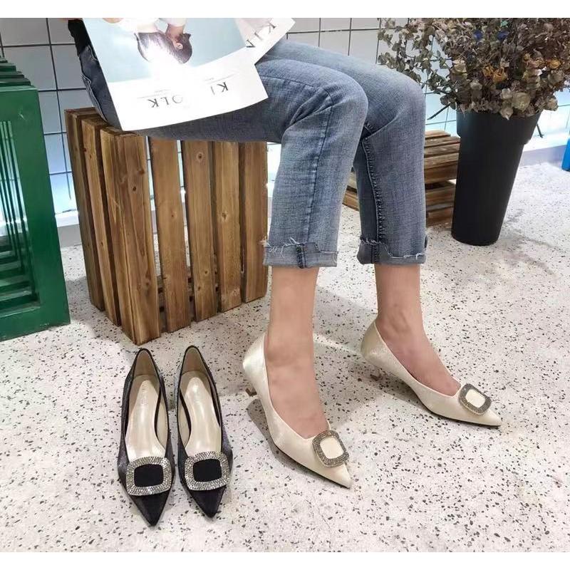 giày cao gót da bóng thời trang cho nữ