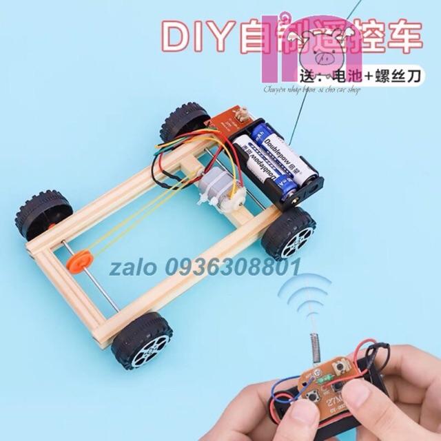 ivn045 ô tô điều khiển từ xa diy đồ chơi khoa học phát minh
