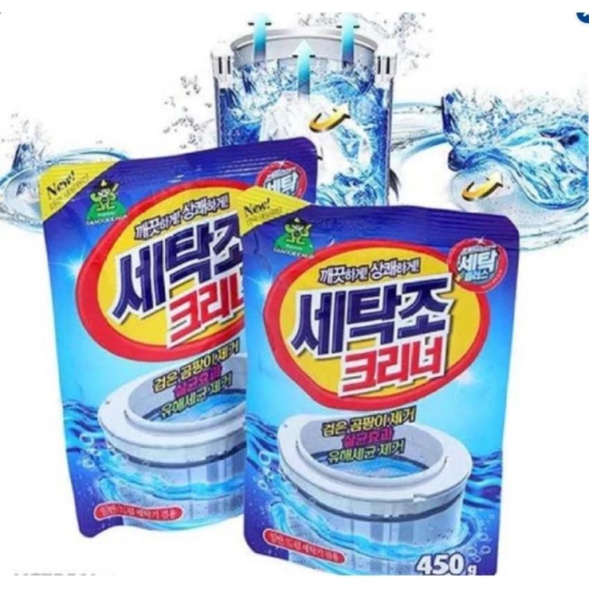 Bộ 2 Bột Vệ Sinh Lồng Máy Giặt Hàn Quốc 450g tiện dụng - 3608331 , 954850410 , 322_954850410 , 299999 , Bo-2-Bot-Ve-Sinh-Long-May-Giat-Han-Quoc-450g-tien-dung-322_954850410 , shopee.vn , Bộ 2 Bột Vệ Sinh Lồng Máy Giặt Hàn Quốc 450g tiện dụng