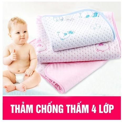 [Mã MKBCSALE7 giảm 8% đơn 250K] Miếng lót chống thấm cho bé sơ sinh 4 lớp