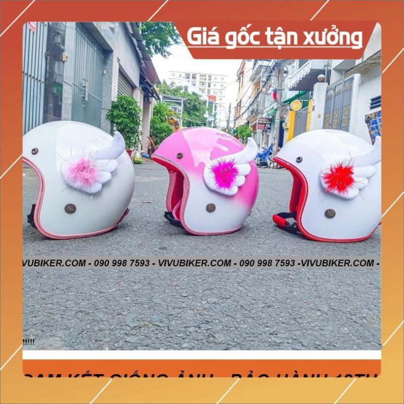 [Giống ảnh] Cánh thiên thần Cupid gắn nón bảo hiểm 3/4 - Cánh FungFing Thái Lan - Phụ kiện Fung Fing