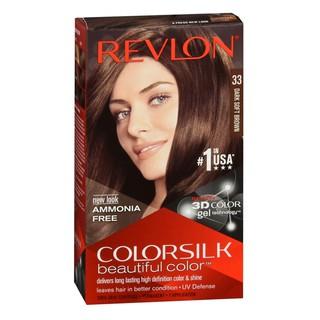 Thuốc nhuộm tóc Revlon Dark Soft Brown 33 cho tóc màu nâu nhẹ - Mỹ - 130ml