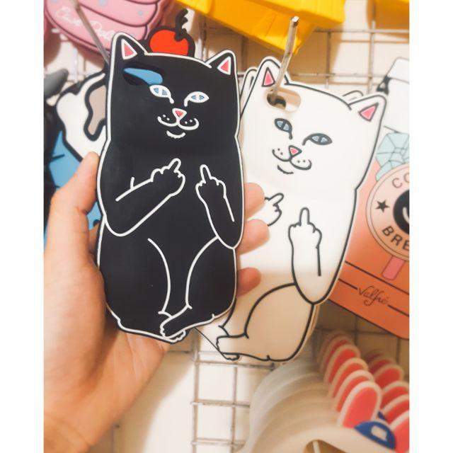 ỐP LƯNG IPHONE 6/6 PLUS / 7/7 PLUS / 8/8 PLUS DẺO SILICONE mèo OK ( xả hàng )