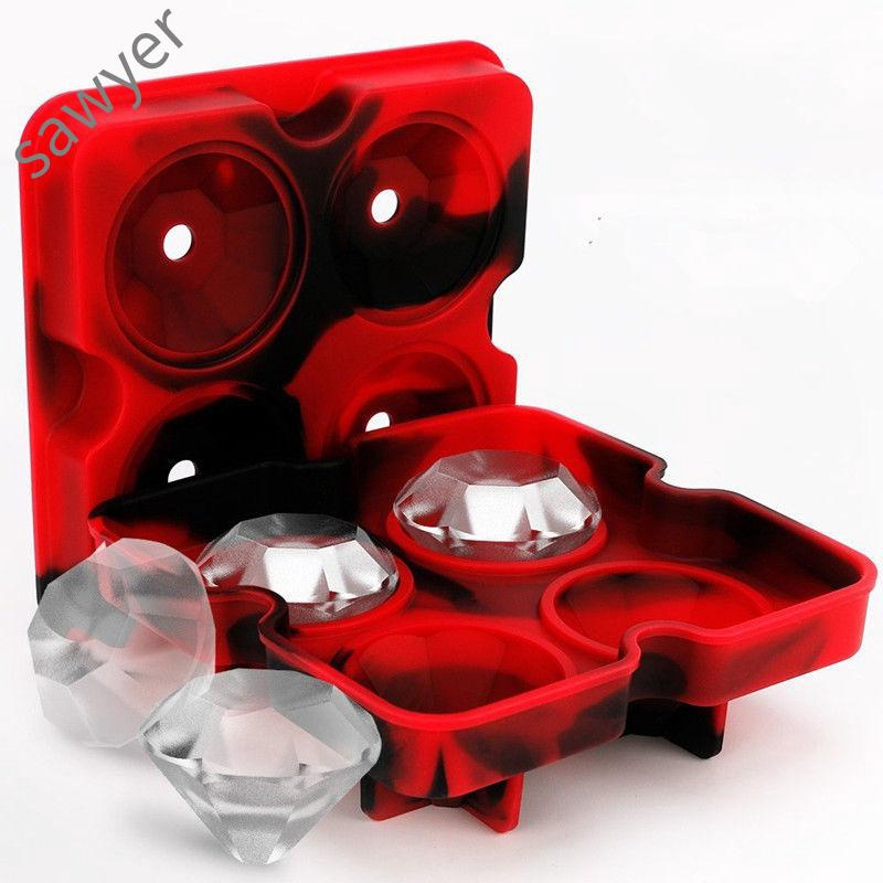 Silica Gel Diamond Mould Silicone Black Diamondicetray Icecubefreezemold Iceballmaker Whiskeyicecube