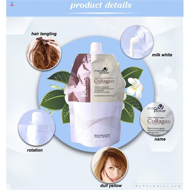 Kem ủ hấp tóc siêu mềm mượt collagen Karseell Macca chính hãng từ Ý - phục hồi tóc tại nhà