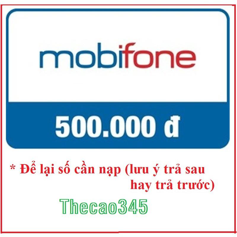 Thẻ Cào MobiFone 500k, Mobi 500k, Shop Thec