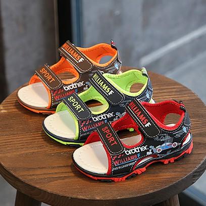 Dép sandal cho bé - Đen/Nâu - Size 21 đến 30 - V107
