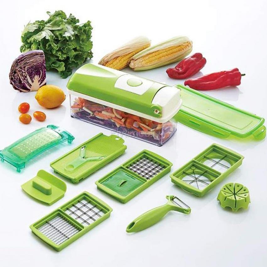 Combo 4 bộ dụng cụ cắt gọt rau củ thông mình 10 món Nicer Dicer