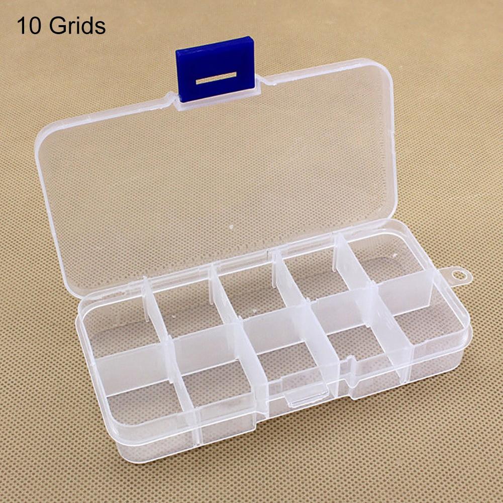 Hộp nhựa đựng trang sức 10 ngăn trong suốt