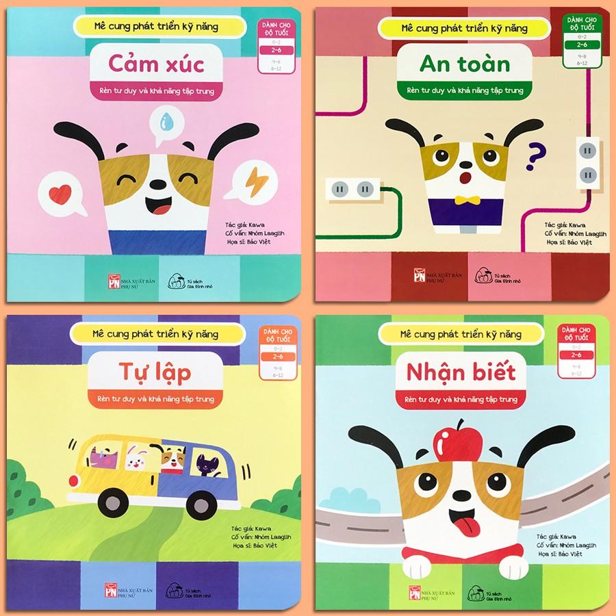 Sách - Mê Cung Phát Triển Kỹ Năng - Bộ 4 quyển, lẻ tùy chọn  (2-6 tuổi) - Rèn Tư Duy Và Khả Năng Tập Trung