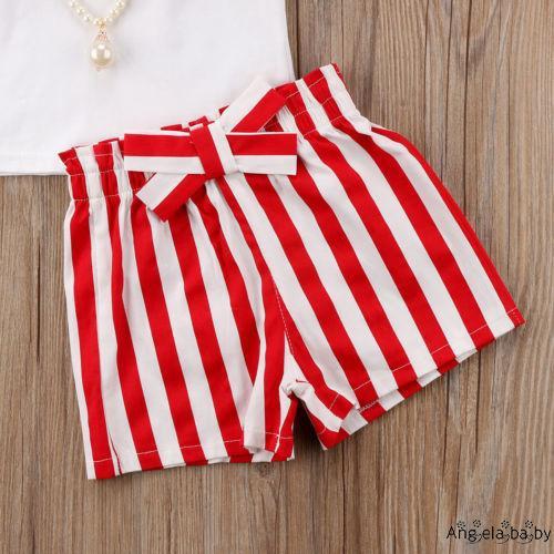 Set áo thun tay ngắn & quần short cho bé gái