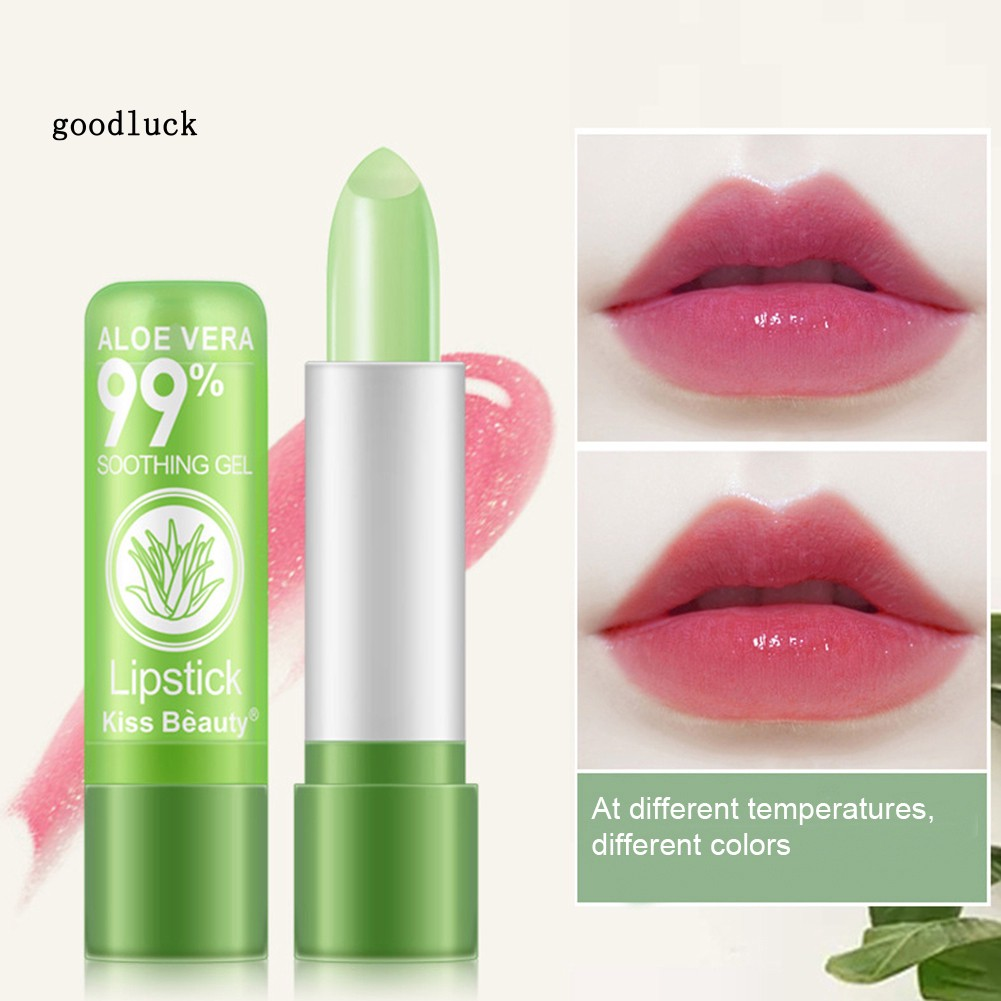 GLK_Kissbeauty Aloe Vera Color Change Lip Cream Moisturizing Long Lasting Lipstick