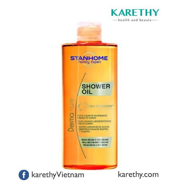 Stanhome Shower Oil: Dầu Tắm cho Da Khô, Da Nhạy Cảm (400 ml)