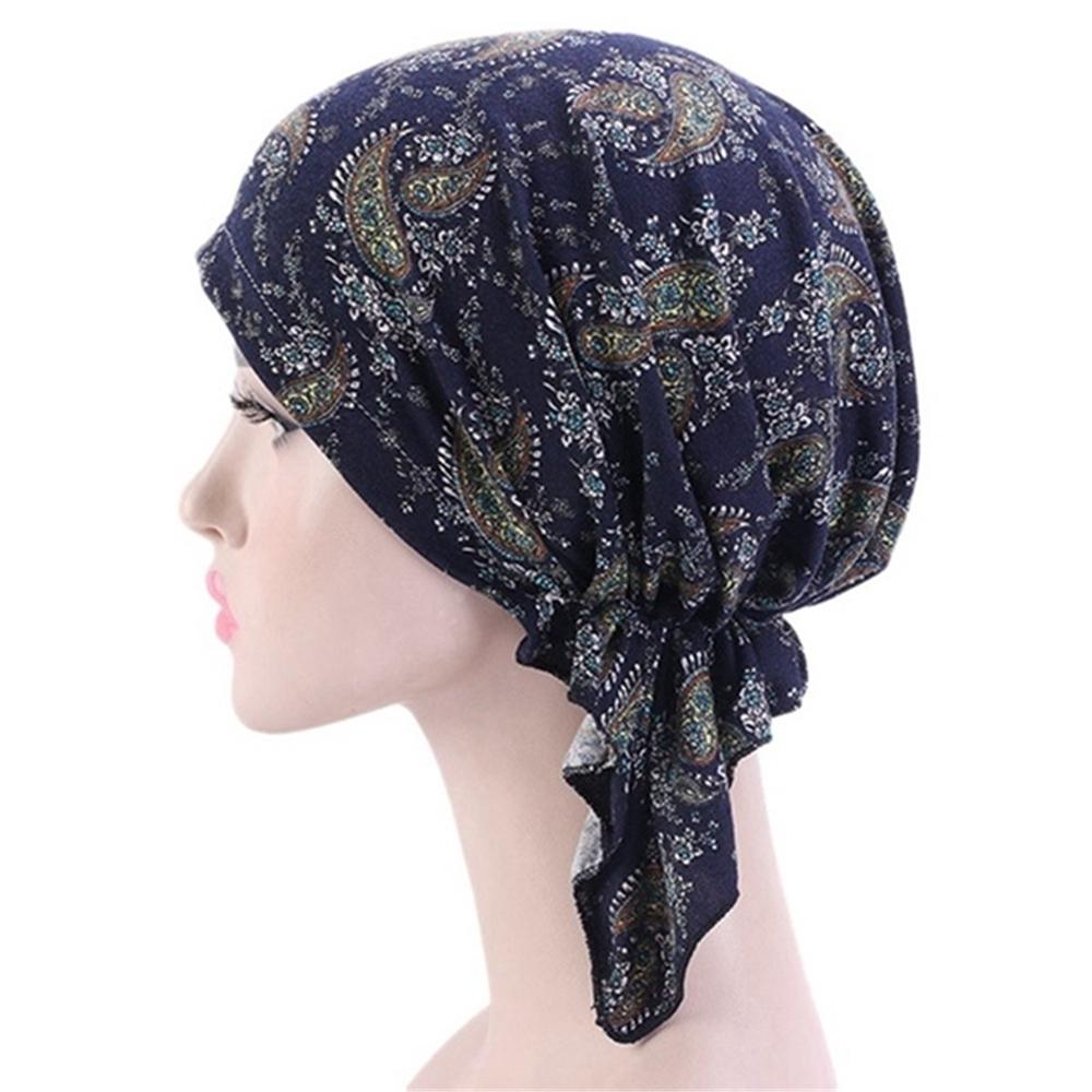 Mũ Turban Trùm Đầu Kiểu Hồi Giáo Phối Bèo Dễ Thương Cho Nữ